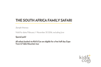 South Africa Safari itinerary